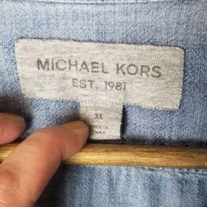 Michael Kors Tops - Michael Kors Chambray Button Down Top